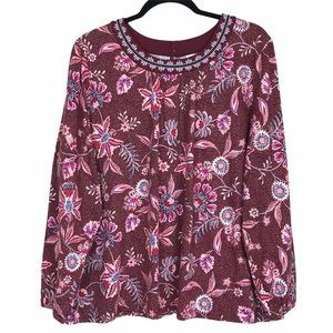 Old Navy Floral Embroidered Tunic Top